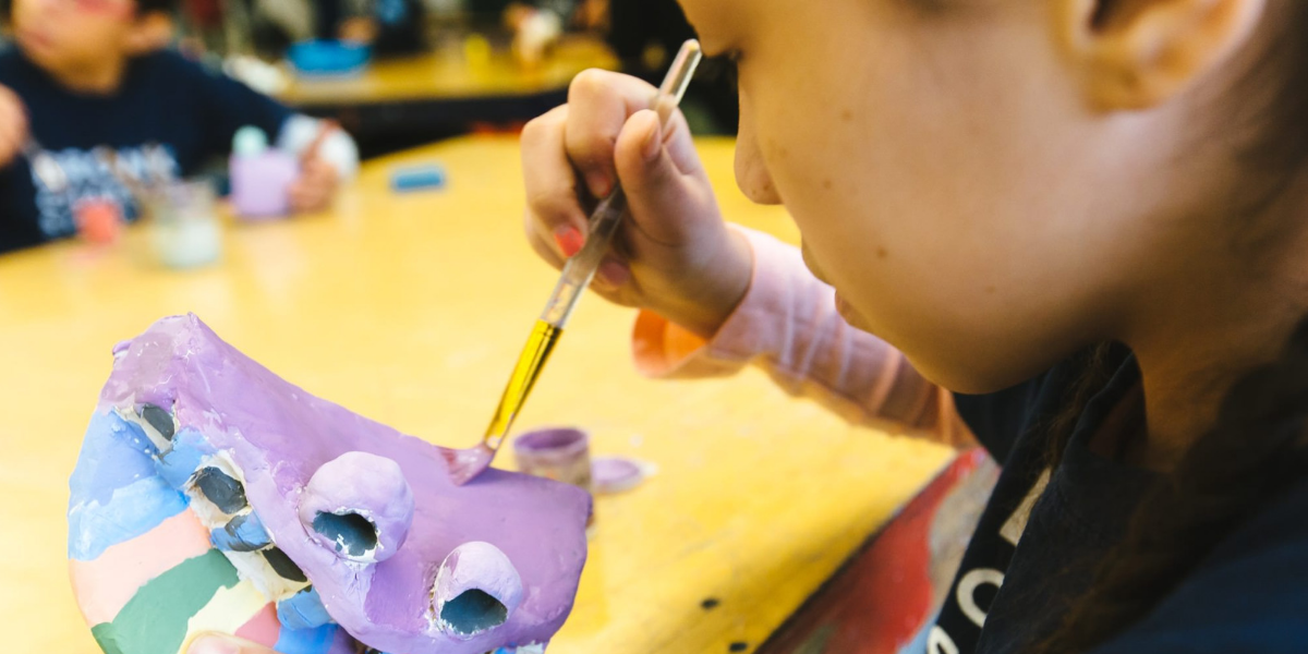 Student doing art at Bronx Charter School for the Arts