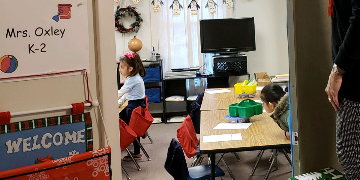 Inside a classroom at Ocean Academy Charter School in New Jersey
