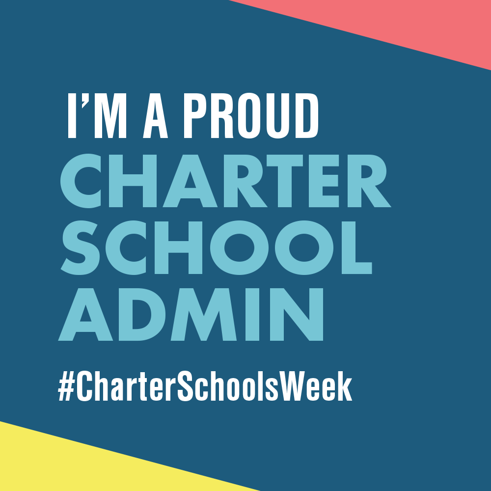 """I am a Proud Charter School Admin"" graphic to use as profile picture"