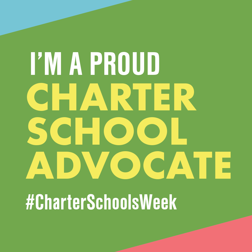 """I am a Proud Charter School Advocate"" graphic to use as profile picture"