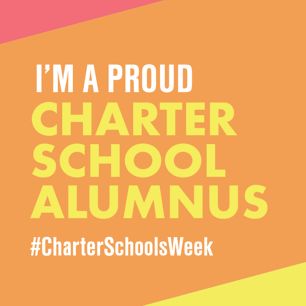"""I Am A Proud Charter School Alumnus"" profile badge"