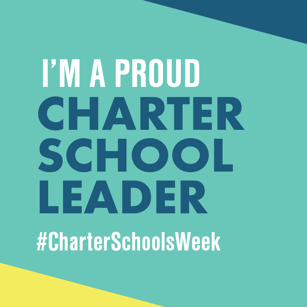 """I Am A Proud Charter School Leader"" profile badge for National Charter Schools Week"