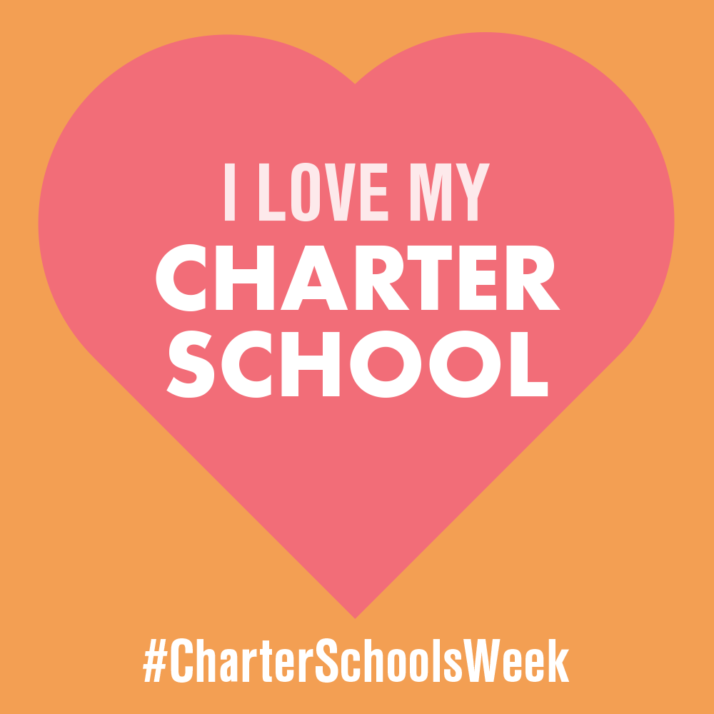 """I Love My Charter School"" graphic to use as profile picture"