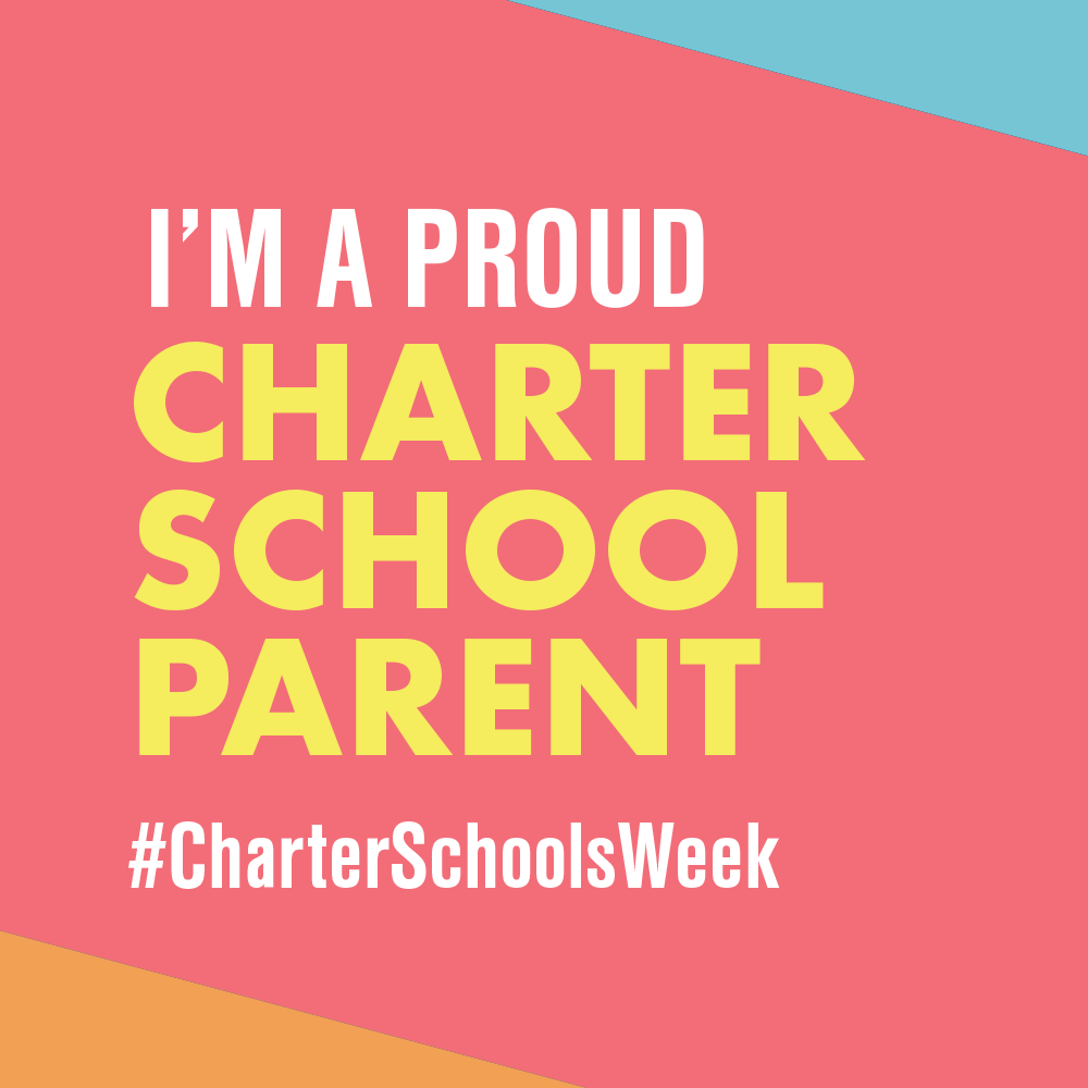 """I am a Proud Charter School Parent"" graphic to use as profile picture"