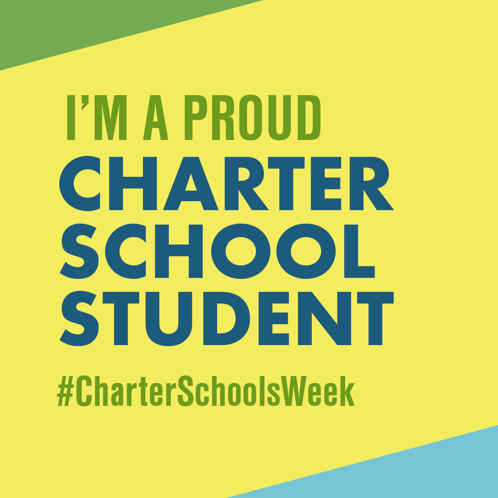 """I am a Proud Charter School Student"" graphic to use as profile picture"