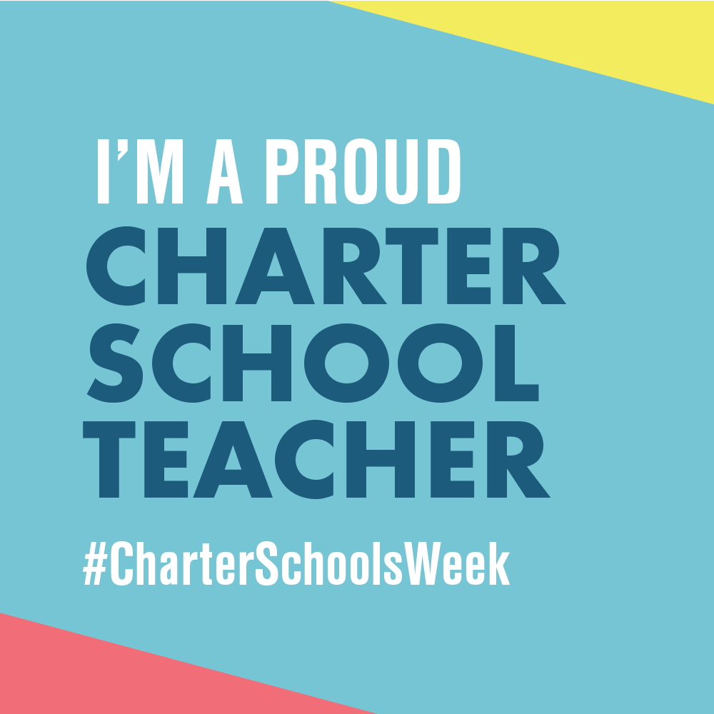 """I am a Proud Charter School Teacher"" graphic to use as profile picture"