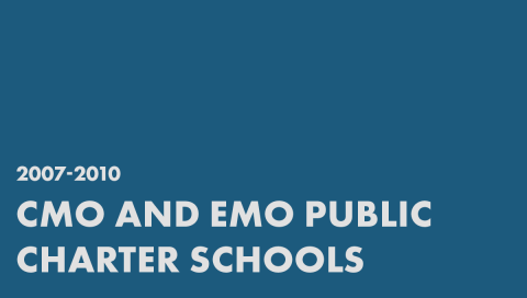 CMO and EMO Public Charter Schools