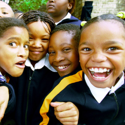 Group of charter school girl;s enjoying time at recces.