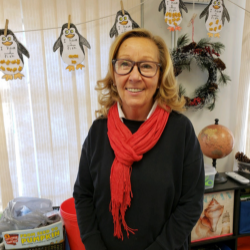 Mrs. Oxley, a teacher at Ocean Academy Charter School in New Jersey