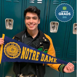 Kevin Olvera, a 2019 graduate of IDEA Quest attending the University of Notre Dame this fall