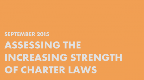 Assessing the Increasing Strength of Charter School Laws